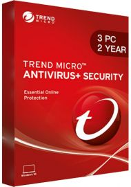 Trend Micro Antivirus Security - 3 PCs - 2 Years