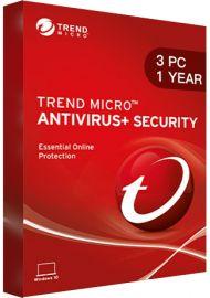 Trend Micro Antivirus + Security - 3 PCs - 1 Year