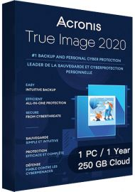 Acronis True Image 2020 Advanced - 1 PC - 1 Year - 250GB Cloud [EU]