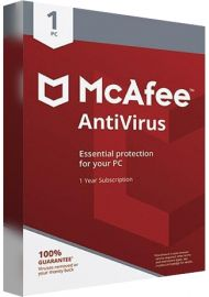 McAfee Anti-Virus - 1 PC - 1 Year