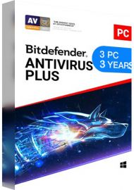 Bitdefender Antivirus Plus 3 PCs 3 Years