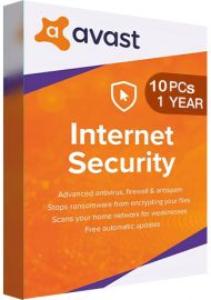 Avast Internet Security 10 PCs 1 Year