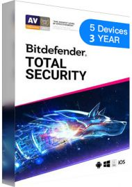 Bitdefender Total Security - 5 Devices - 3 Years EU