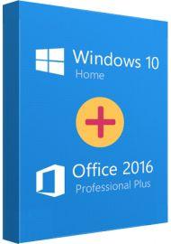 Microsoft Windows 10 Home + Office 2016 Pro Bundle