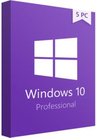 Windows 10 Pro Professional - 5 PCs
