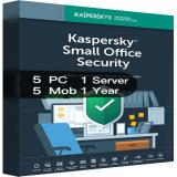 Kaspersky SMALL Office Security Version 7 5PCs + 5Mobiles + 1Server - 1 Year  [EU]